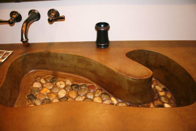 custom concrete sink Stevens Point WI