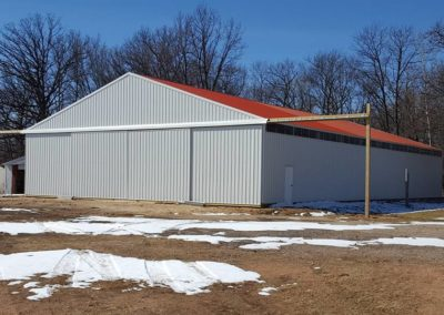 Photo of a Grey Pole Shed